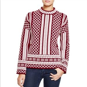 NWT Tory Burch Jacquard Merino wool Sweater
